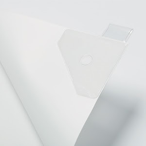 Adhesive hangers accessory for banners
